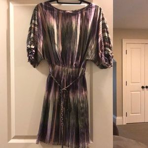 Beautiful multicolor silk dress